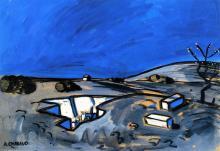 August Chabaud, 1924:  Paisaje (Azul)