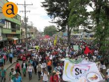 Marcha Sí a la Paz en Cauca